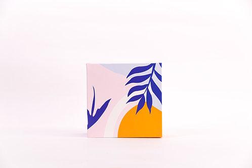 6 x 6 x 3 Lush Tropics Pre-Formed Box