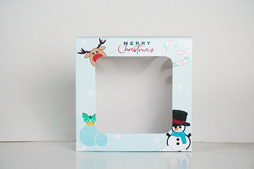10 x 10 x 4 Snowman Pre-Formed Box