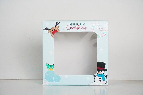 9 x 9 x 4 Snowman Pre-Formed Box