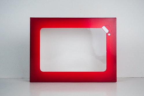 9 x 12 x 3 Naughty or Nice Santa Pre-Formed Box