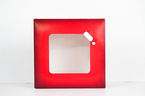9 x 9 x 2 Naughty or Nice Santa Pre-Formed Box