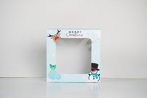 8 x 8 x 3 Snowman Pre-Formed Box