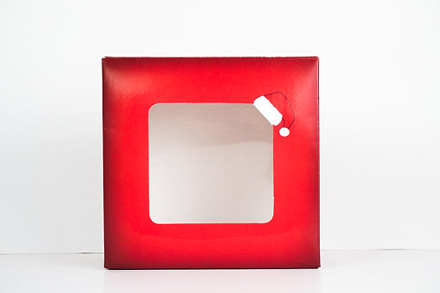 9 x 9 x 4 Naughty or Nice Santa Pre-Formed Box