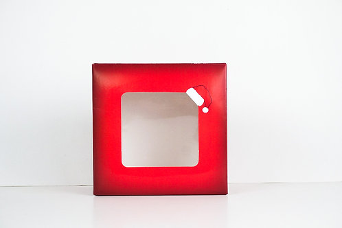 7 x 7 x 3 Naughty or Nice Santa Pre-Formed Box