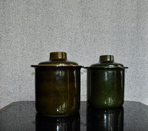 """Pots """"Rumertopf"""" verts"""