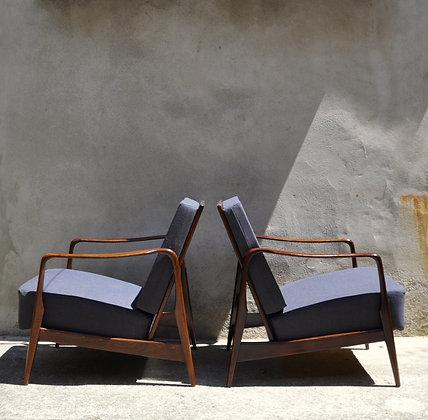 Paire de fauteuils design 1950