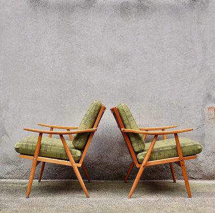 Paire de fauteuils tchèques Thonet Brusel