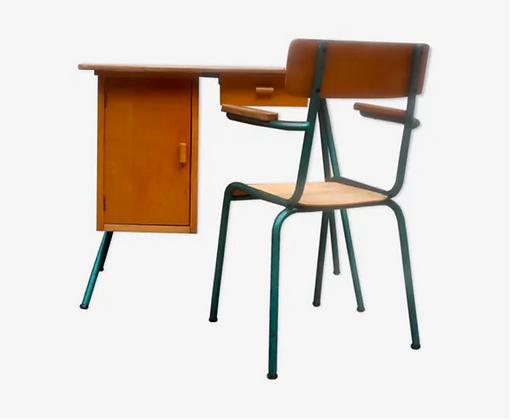 Ensemble industriel bureau et chaise