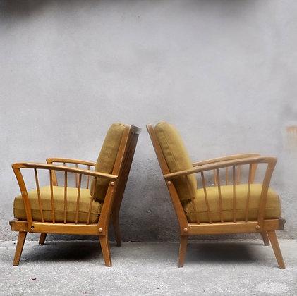 Paire de fauteuils rockabilly