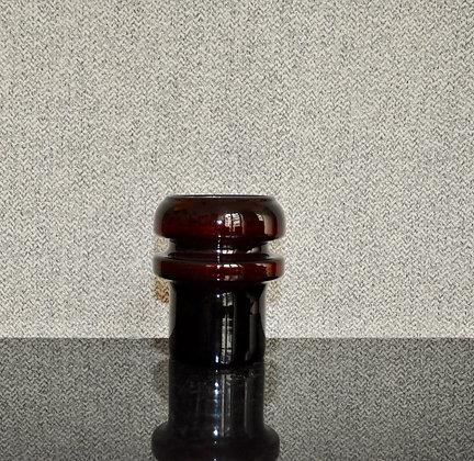 Vase en verre soufflé vintage