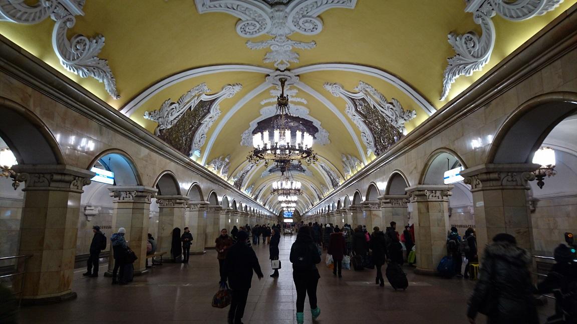 ⑤号線 コムソモーリスカヤ駅