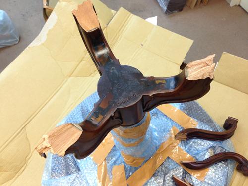 テーブル脚折れ修理