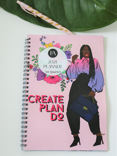 Create Plan Do  2021 Quarterly Planner