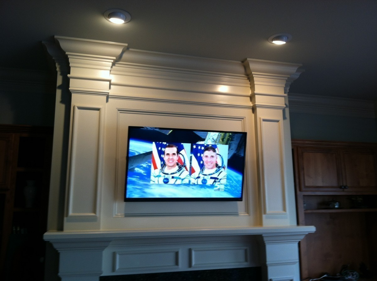 tv mounting with eye lights