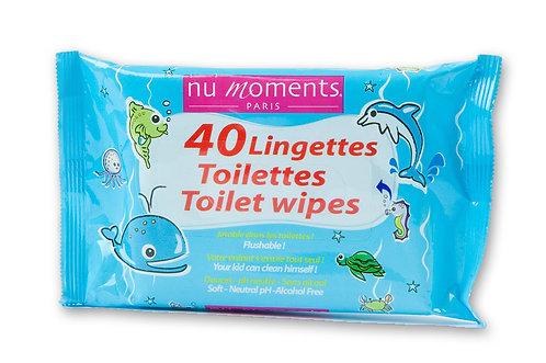 Toilet wipes for children