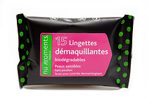 Lingettes Bio démaquillantes nu moments
