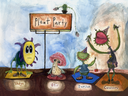 Plant Party Line Up Painting