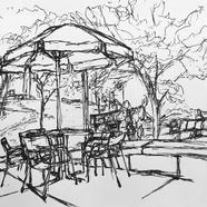 Campus Center Umbrella Table