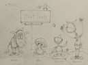 Plant Party Line Up Drawing