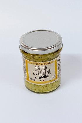 Zelenjavna omaka z bučko in ricotto 180 g