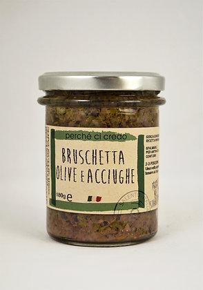 Bruschetta namaz olive in inčuni 180g