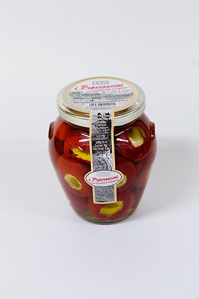 Pekoča paprika polnjena s sirom in kapro v olju 280 g