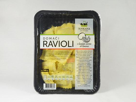 Ravioli s kozjim sirom in limono 300 g