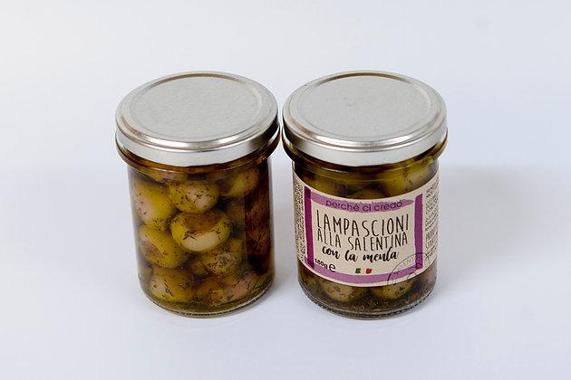Lampascioni (čebulice) z meto v ekstra deviškem oljčnem olju 180 g