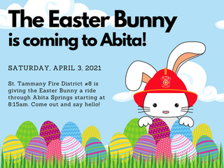 The Easter Bunny is coming to Abita