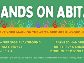 NEW DATE MAY 15: Hands ON Abita! Make your mark on the Abita playground