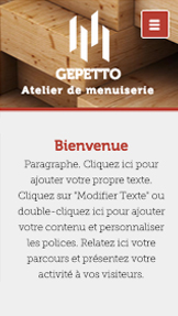 Personnel website templates – Atelier de Menuiserie
