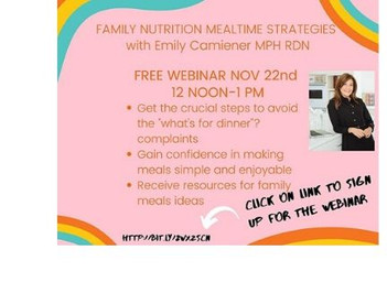 Webinar Family Nutrition and Mealtime Strategies