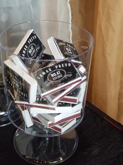 Custom whiskey label match boxes