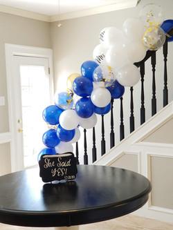 Rear staircase balloon garland