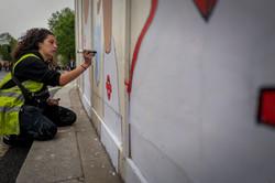 Mural at Black Lives Matter Protest West