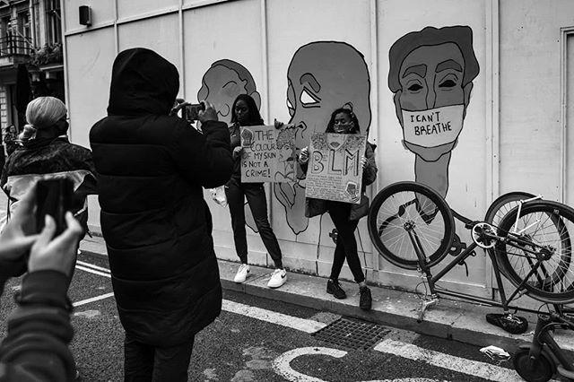 Mural at Black Lives Matter Protest Westminster