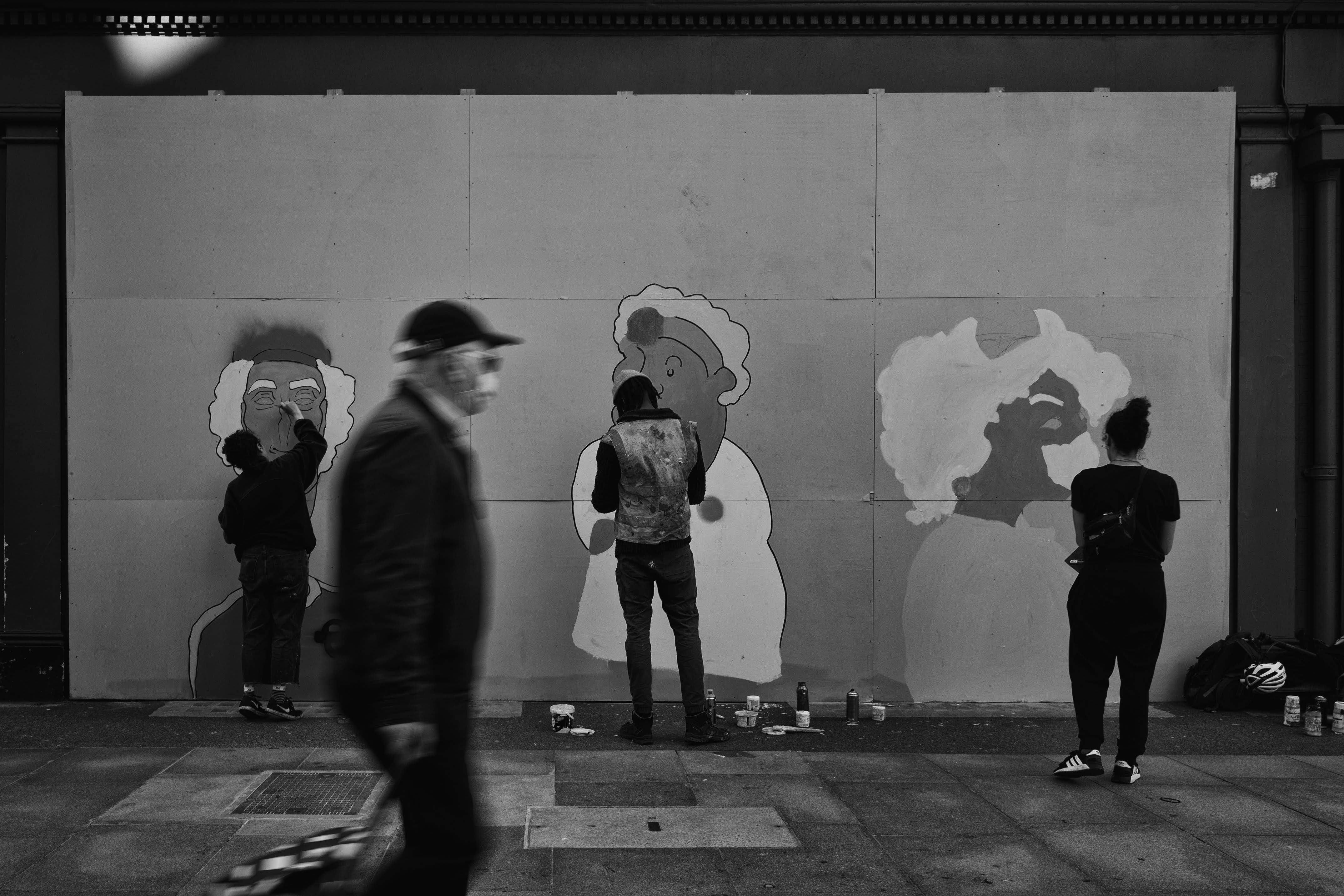 Mural in Goodge Street for the Stay Stro