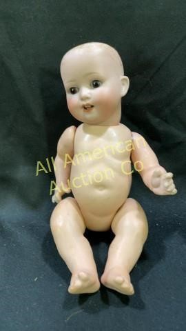 """Hubach Koppelsdorf Germany bisque head doll, marked 300 6/7, 11"""""""