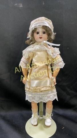 "Antique Sorel Mazarine French doll, 15"""