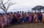 Flinchum020 with Massai women in Village