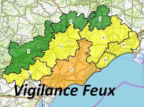 Carte de vigilance Feux de forêts