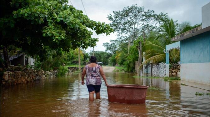 Tormenta Tropical Cristobal, en Yucatán, México.