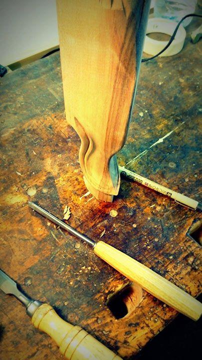 Détail sculpture pied de biche