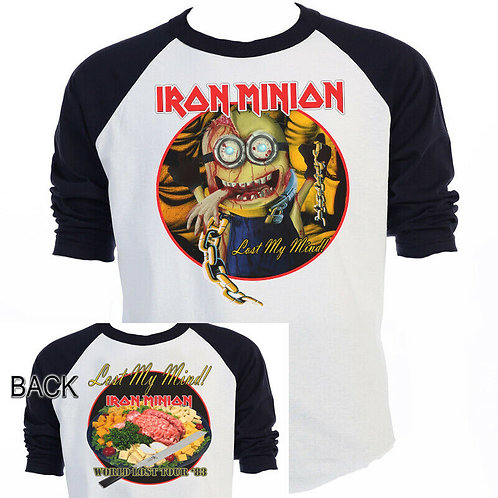 The MINIONS,Iron Maiden,Inspired,Piece of Mind,Tour T-SHIRTS,SIZES S-5XL,T-1428