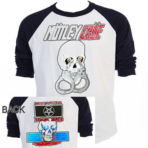 MOTLEY CRUE,Too Fast For Love Tour RETRO T-582Blk