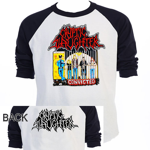 CRYPTIC SLAUGHTER,Convicted,Raglan Shirt,T-920Blk