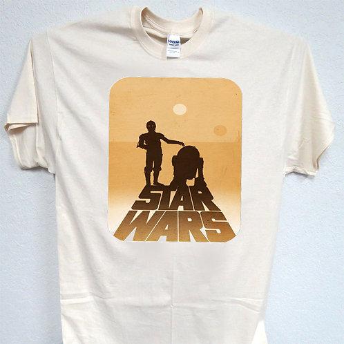 """STAR WARS,Inspired 1977 First Film """"Original Art""""T-SHIRT,S,M,L,XL,2X,3X,4X,T-53"""