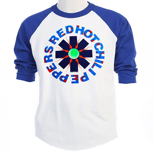 RED HOT CHILI PEPPERS 1990 Tour RETRO Baseball T