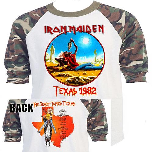 IRON MAIDEN, The Beast Tames Texas 82 CAMO T-558