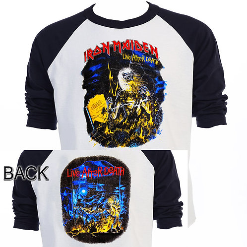 IRON MAIDEN,Live After Death TOUR Baseball T641Blk